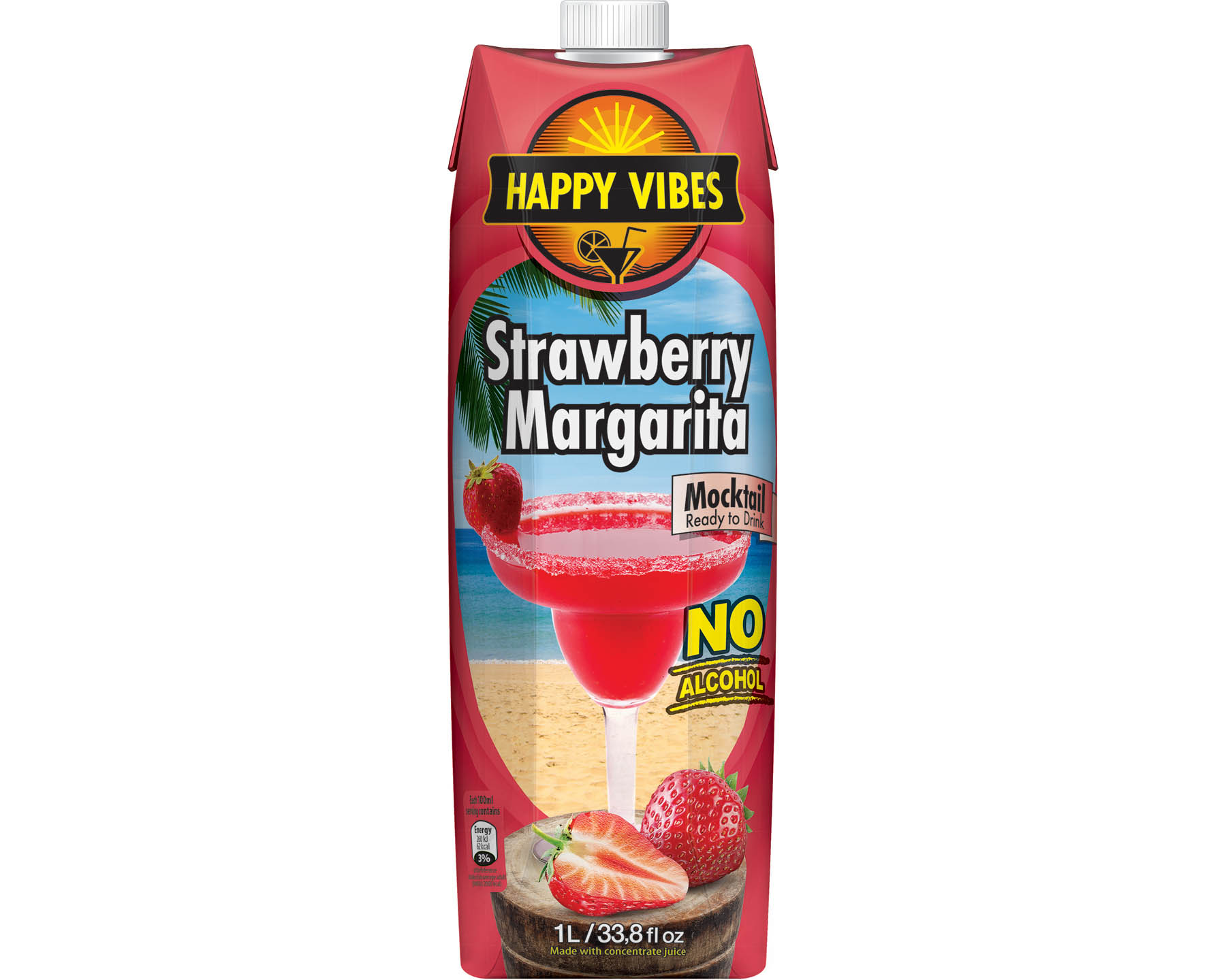 Fontana Happy Vibes Strawberry Margarita