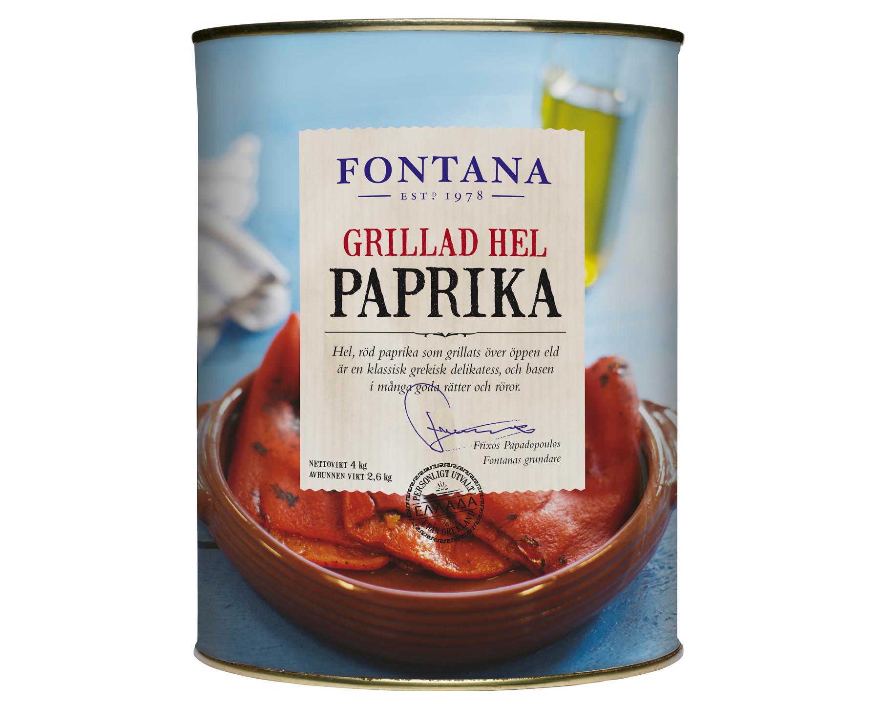 Fontana Grillad Röd Paprika