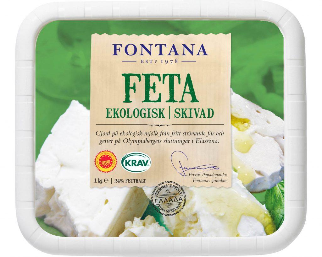 Fontana Feta Skivad Krav Ekologisk