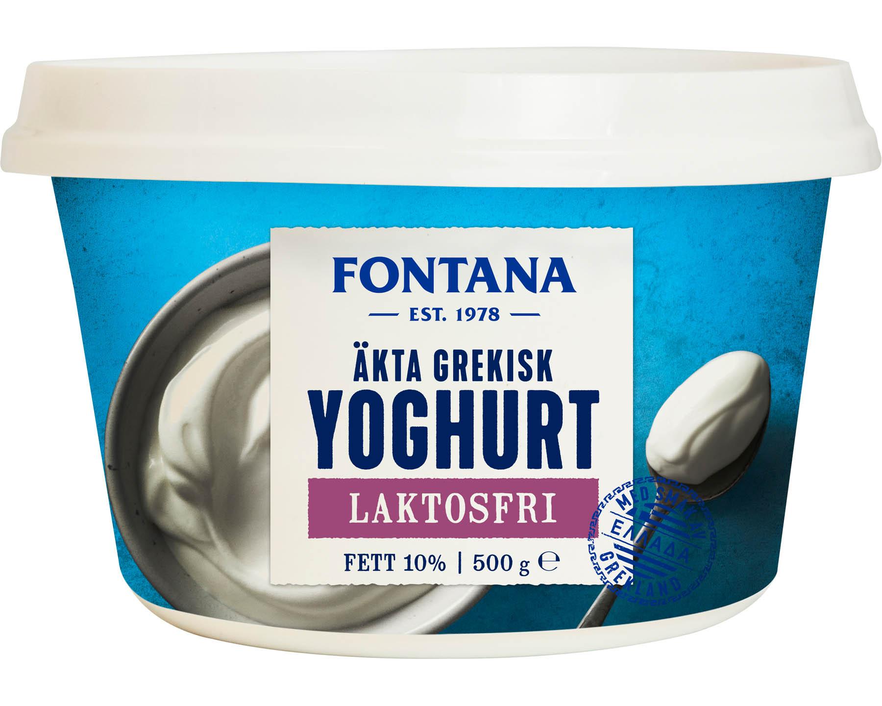 Fontana Äkta Grekisk Yoghurt Laktosfri 10%