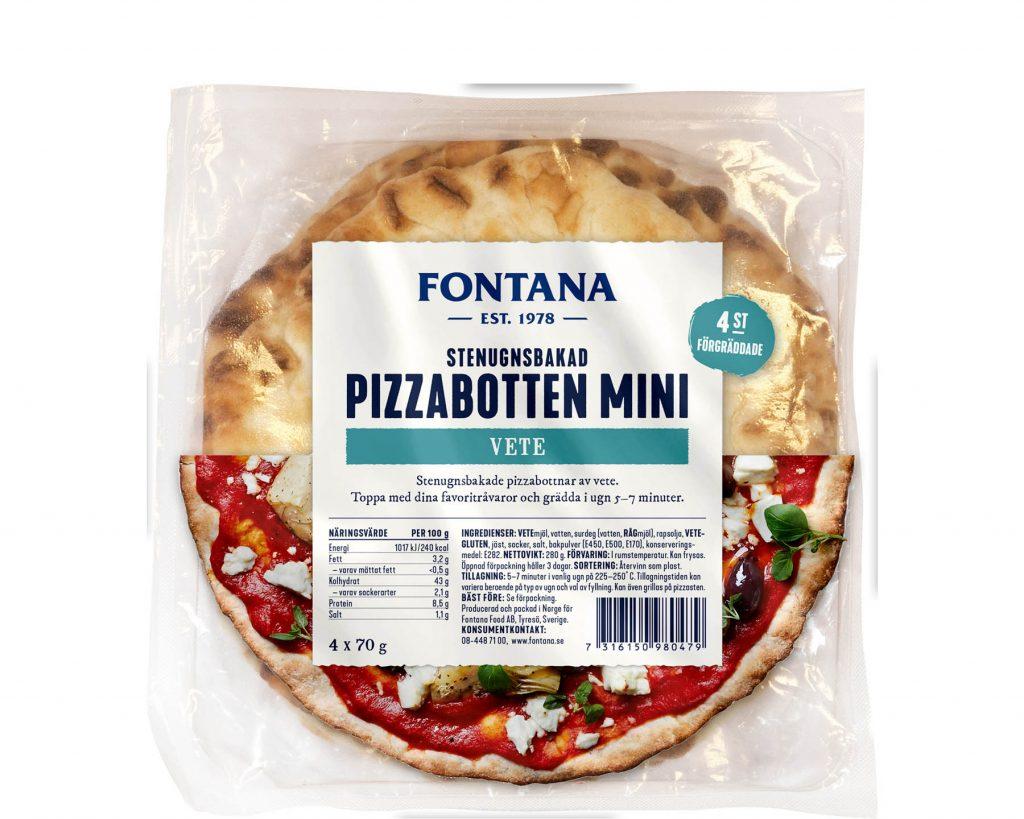 Fontana Pizzabottnar Mini Förpackning