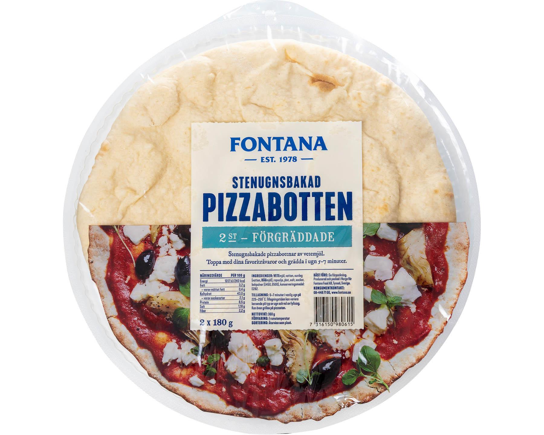 Fontana Stenugnsbakad Pizzabotten - Fullkorn
