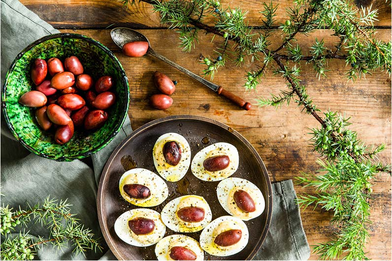 Ägghalvor Med Oliver Recept