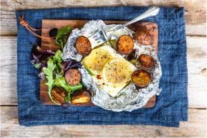 Bakad Fetaost Med Rostad Potatis Recept