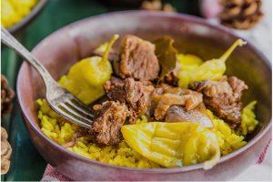 Grekisk Köttgryta Med Pilaffris Recept