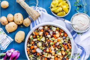 Halloumi Med Säsongens Rotfrukter Recept
