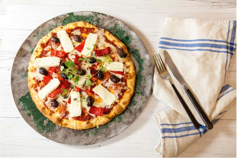 Pizza Med Halloumi Recept