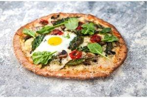 Pizza Med Engelsk Frukost Och Ramslök Recept