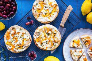 Pizza Med Morot Och Smulad Fetaost Recept