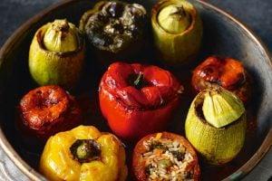 Fyllda grönsaker med ris recept