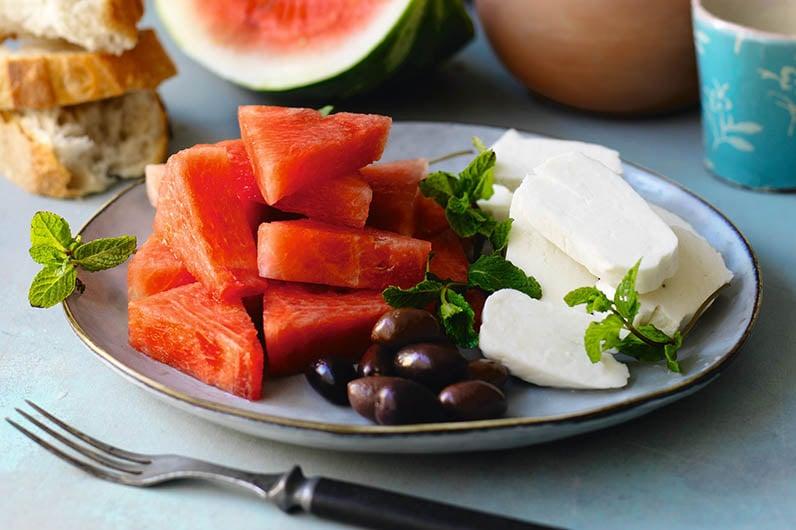Halloumi Med Vattenmelon Recept