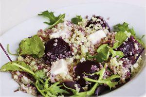 Rödbetssallad med quinoa och feta recept