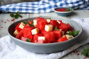 Vattenmelon med Tärnad Grilloumi Recept