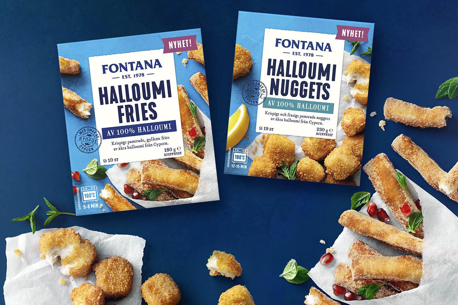 Fontana Halloumi Fries och Nuggets