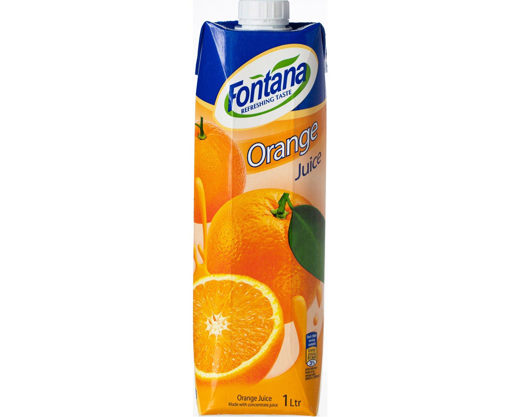 Fontana Apelsinjuice 1 l