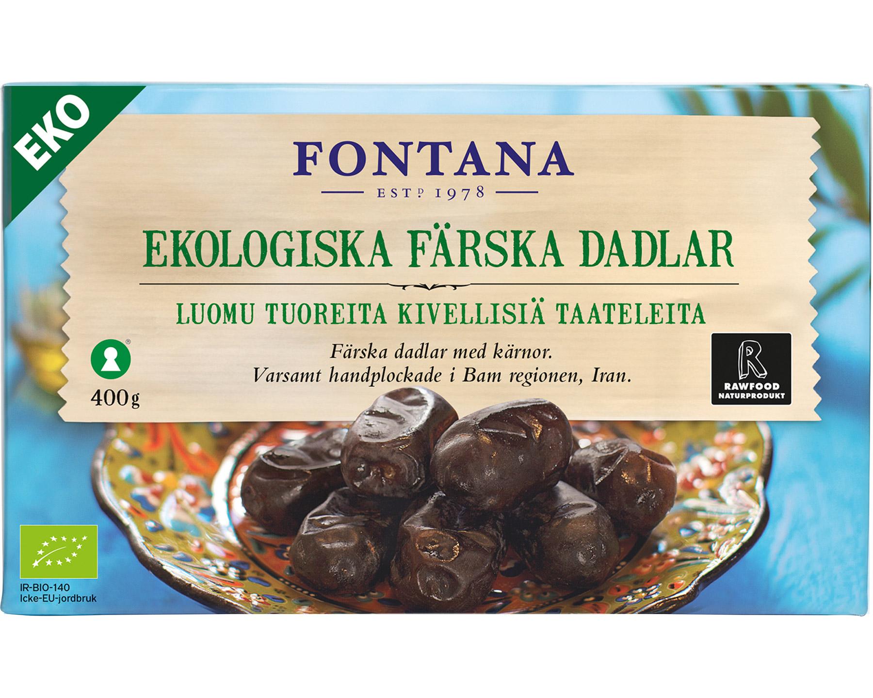 Fontana Färska Dadlar Ekologiska 400 g