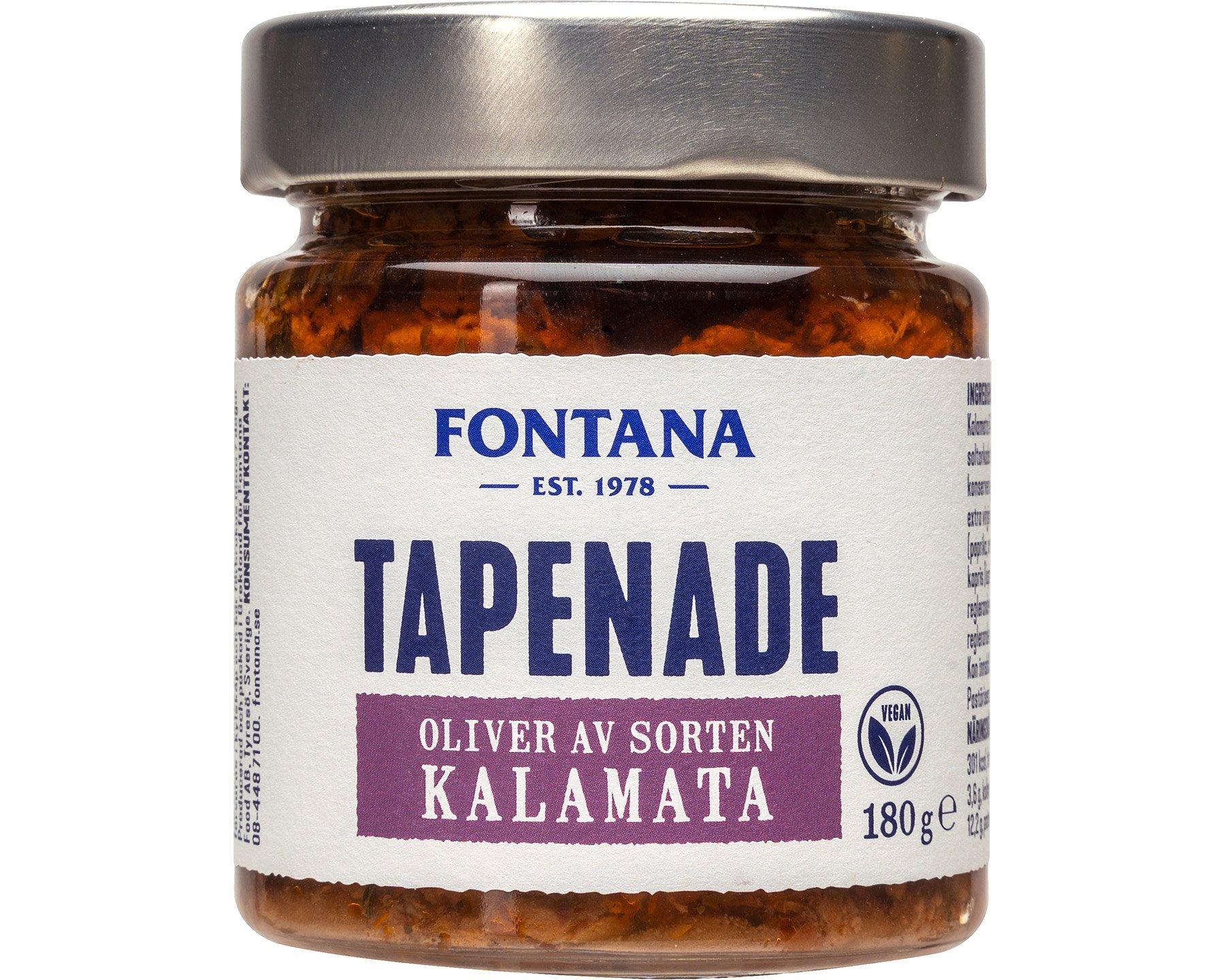 Fontana Tapenade – Oliver av sorten Kalamata 180 g