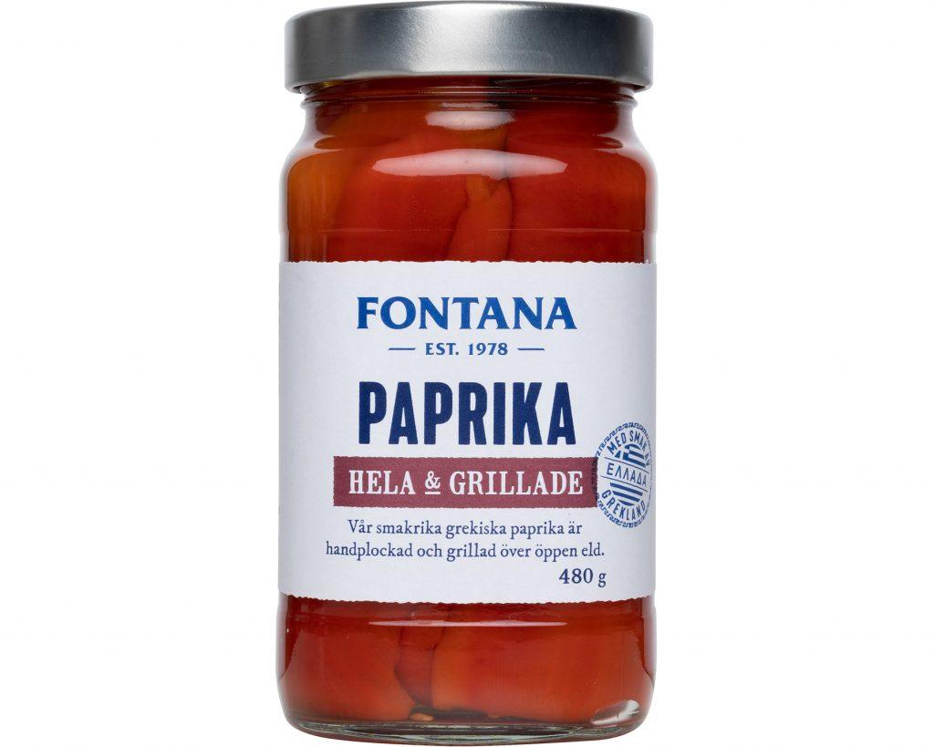 Fontana Grillad Röd Paprika 480 g