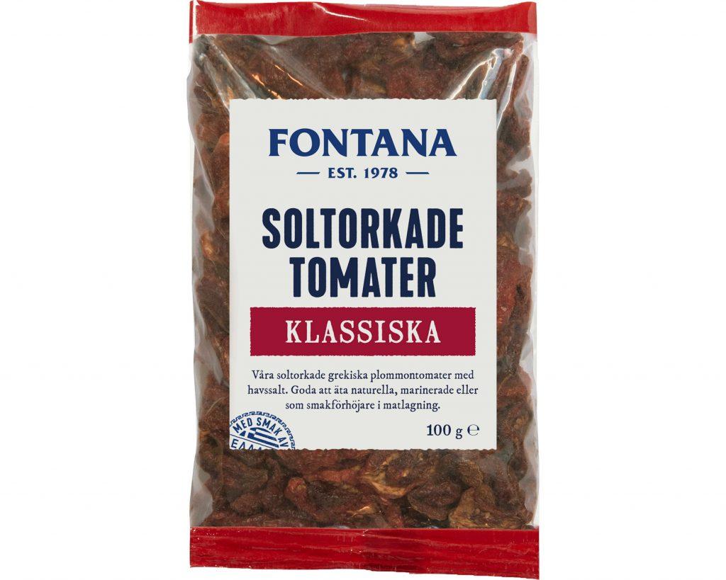 Fontana Soltorkade Tomater Naturell 100 g
