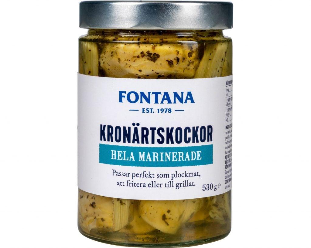 Fontana Kronärtskockor hela marinerade 530 g