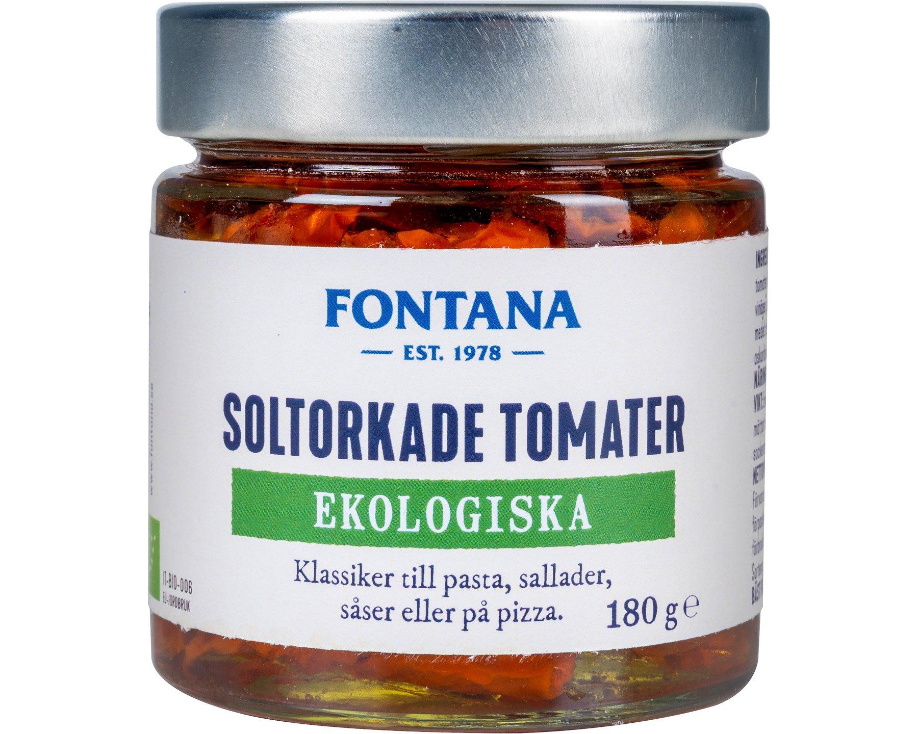 Fontana Soltorkade Tomater Ekologiska 180 g