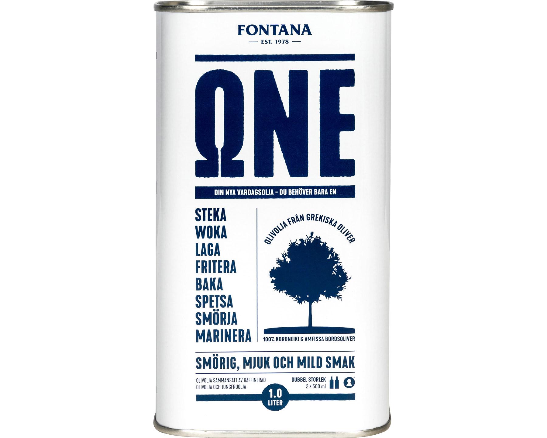 Fontana One Olivolja 1 liter