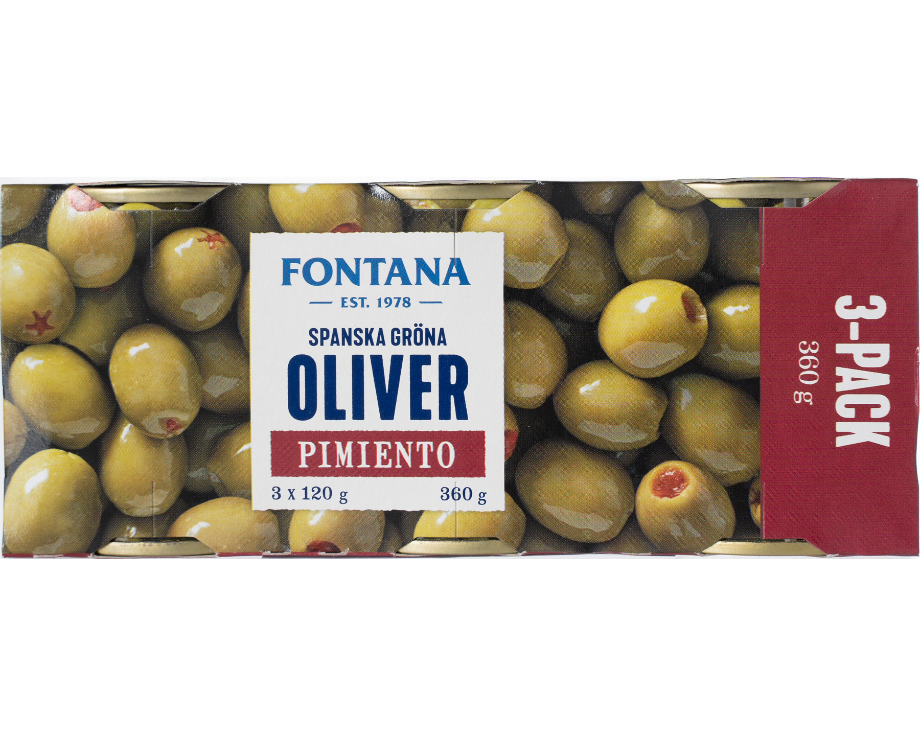 Fontana Oliver Gröna Pimiento 3 Pack 360 g
