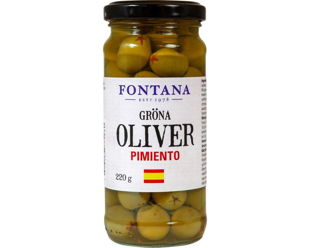 Pimiento Oliver Gröna Fontana 220 g