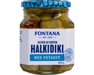 Fontana Oliver Halkidiki med Fetaost 380 g