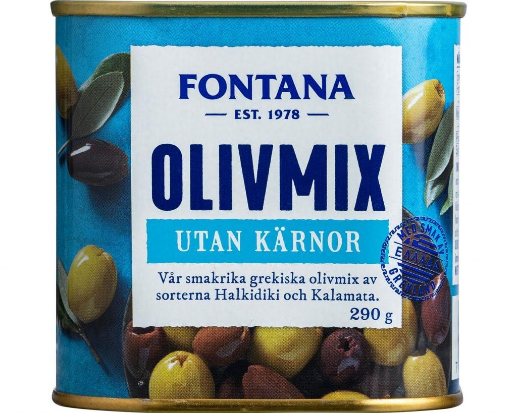 Fontana Olivmix Kalamon & Halkidiki Urkärnade