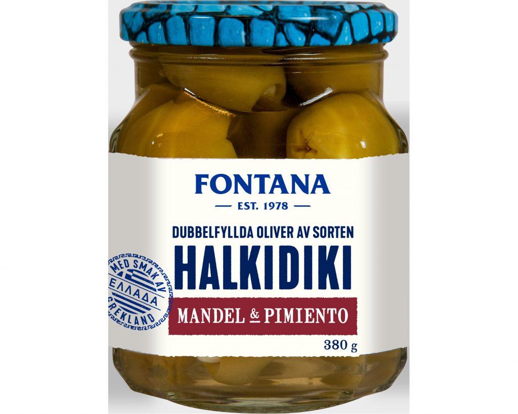 Fontana Oliver Halkidiki Mandel & Pimiento 380 g