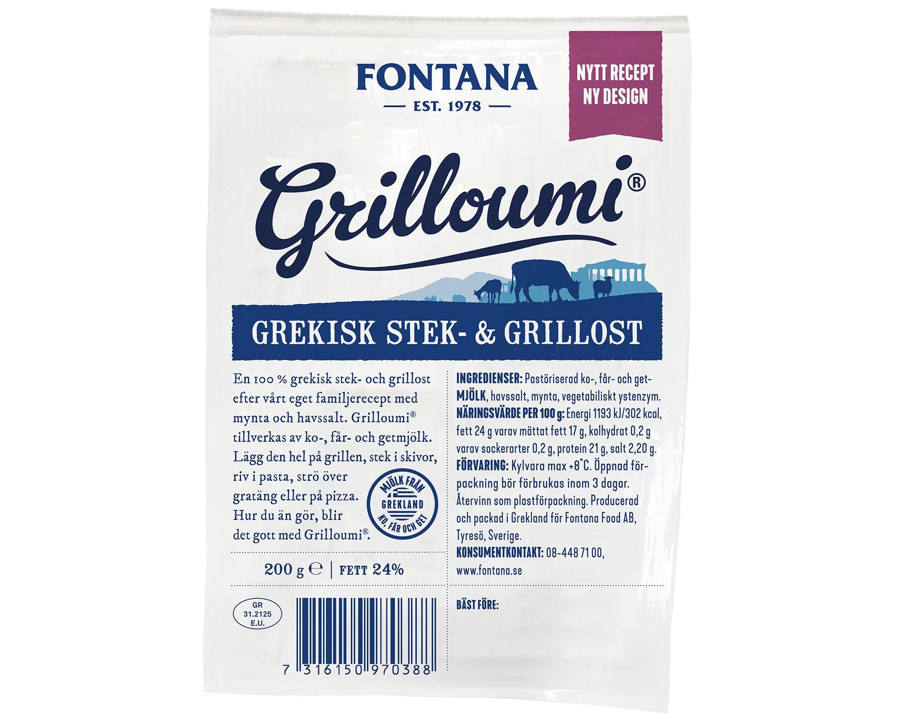 97038 Grilloumi Grekisk Stek-och Grillost 200 g