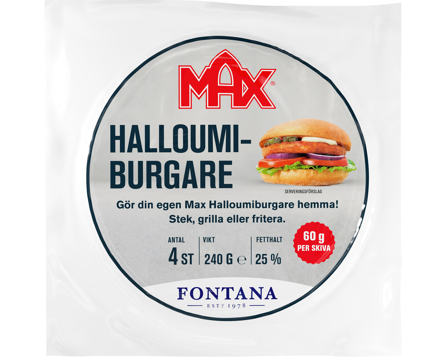 Fontana Halloumiburgare MAX 240 g