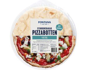 Fontana Stenugnsbakad Pizzabotten - Fullkorn 360 g