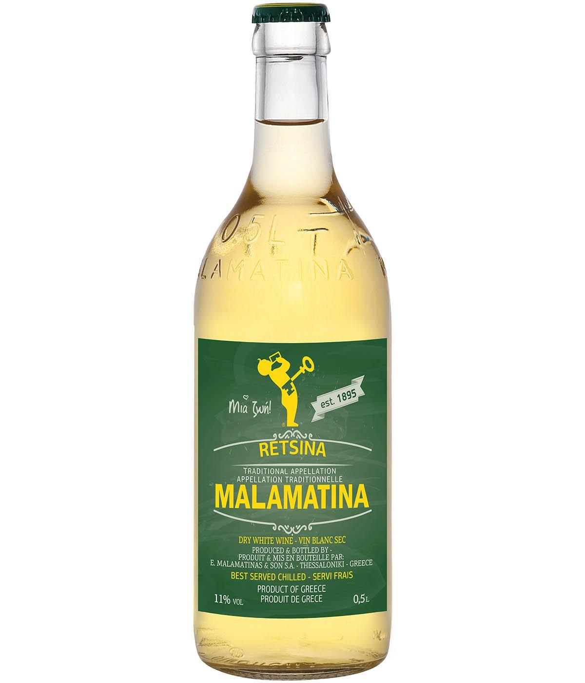 Retsina Malamatina 500 ml Vitt Vin