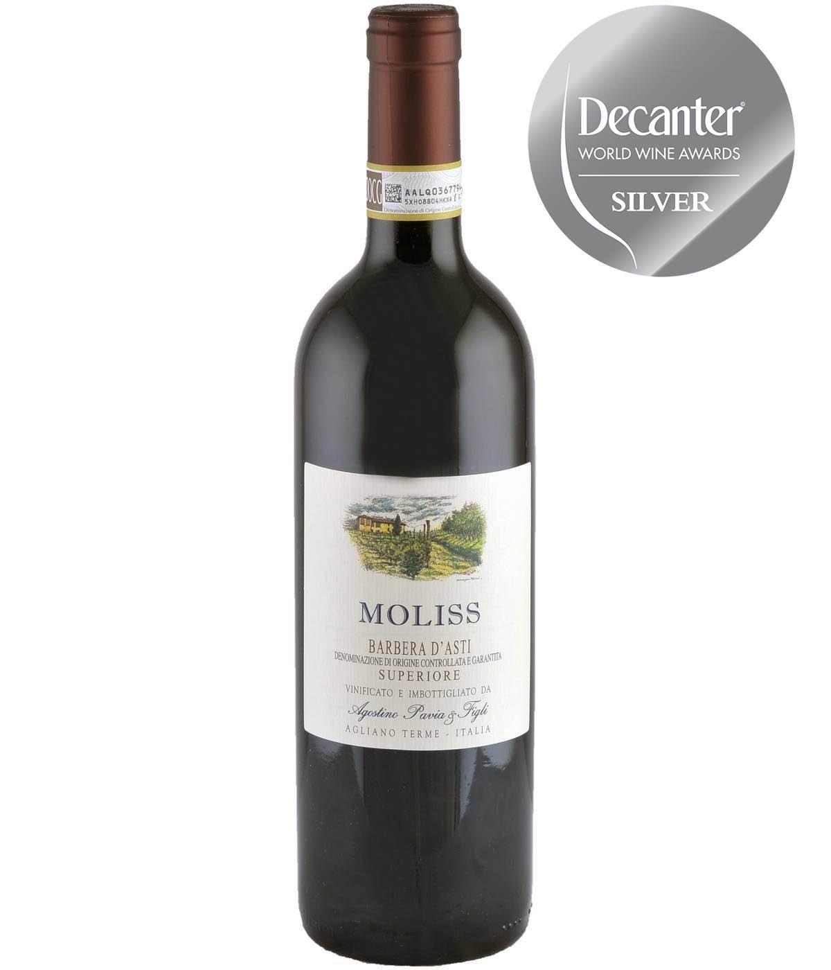 Barbera D'Asti Superiore Moliss 2015 750 ml Rött Vin