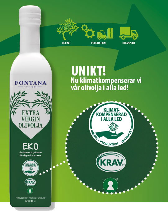 Fontana klimatkompenserad olivolja ekologisk