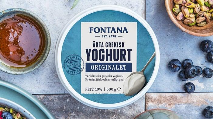 Grekisk premium yoghurt från Fontana