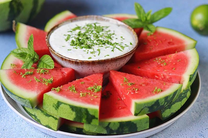 Fetaostdipp med vattenmelon recept