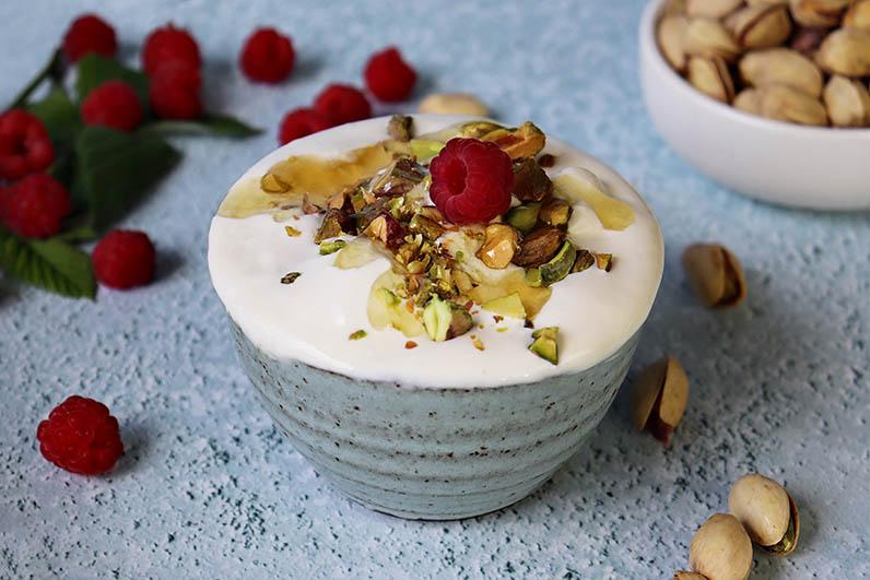 Frozen grekisk yoghurt med honung recept