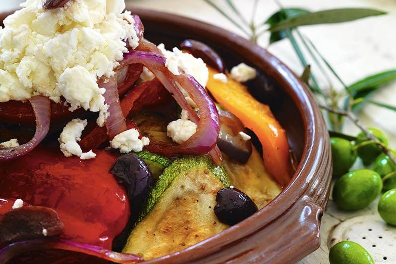Grillade grönsaker med fetaost recept