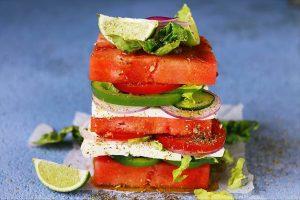 Vattenmelon och fetaost sallad recpet